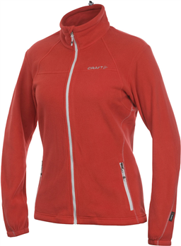 CRAFT FLEECE JACKET WMN BRIGHT RED